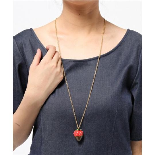 Kate Spade New Kate Spade Outside the Box Strawberry Necklace Image 2