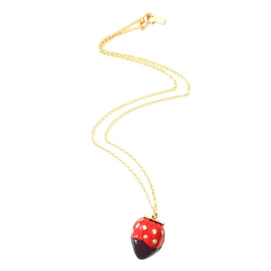 Kate Spade New Kate Spade Outside the Box Strawberry Necklace Image 3