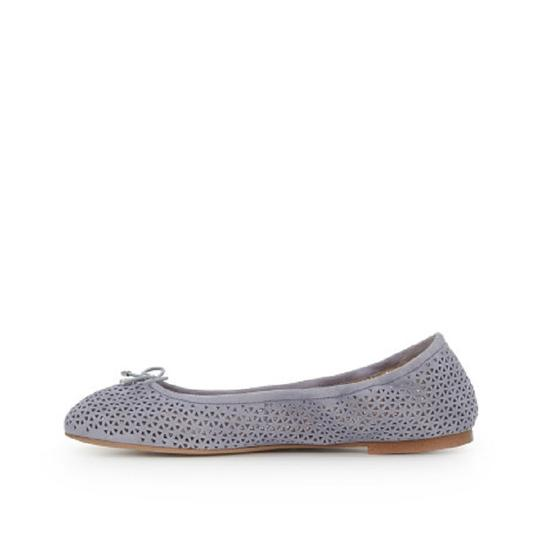 Sam Edelman Suede Leather Perforated Grey Flats Image 4