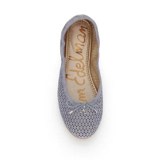 Sam Edelman Suede Leather Perforated Grey Flats Image 5