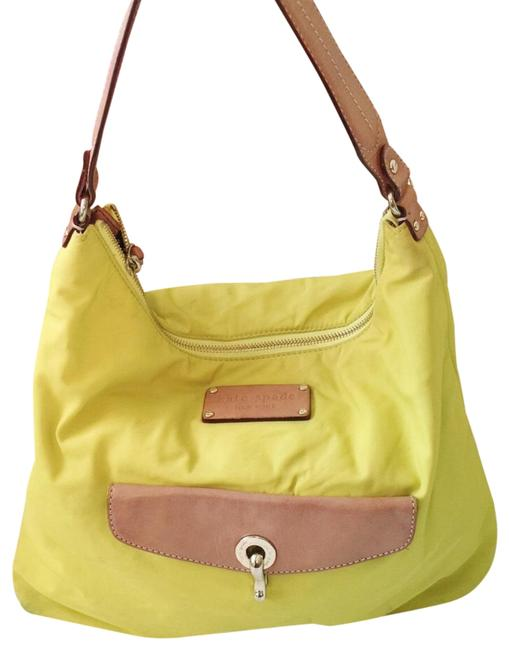 Item - And Leather Neon Green Yellow Nylon Tote