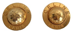 Céline Celine Vintage Gold Globe Clip-ons - Mother's Day!