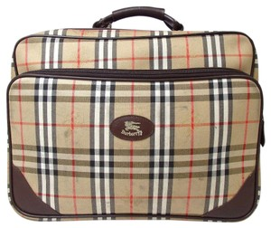 Burberry Classic Vintage Luggage Brown Multi Travel Bag