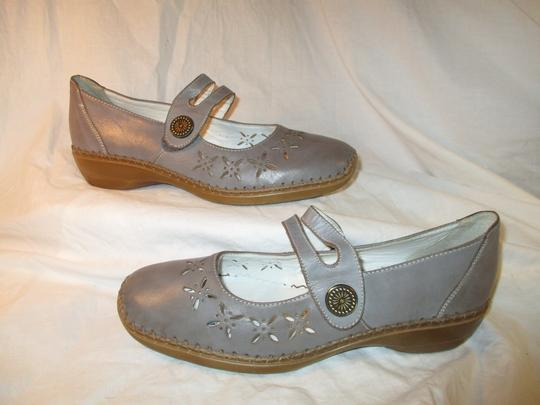 Rieker Leather Mary Jane 001 grey Flats Image 1