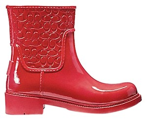 Coach New With Tags Red Boots