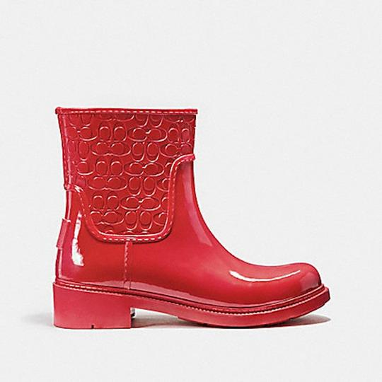 Coach New With Tags Red Boots Image 1