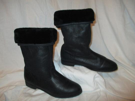 KMB Leather Shearling Winter 003 black Boots Image 1