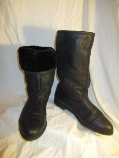 KMB Leather Shearling Winter 003 black Boots Image 10