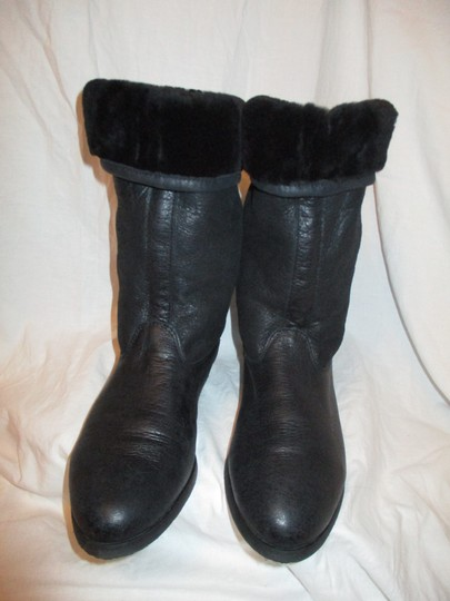 KMB Leather Shearling Winter 003 black Boots Image 2