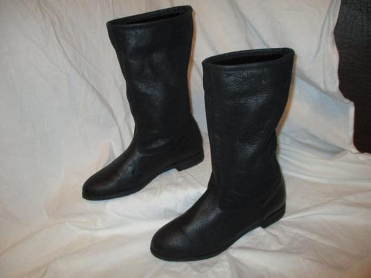 KMB Leather Shearling Winter 003 black Boots Image 3