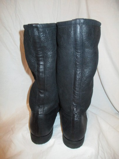 KMB Leather Shearling Winter 003 black Boots Image 4
