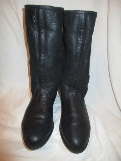 KMB Leather Shearling Winter 003 black Boots Image 9