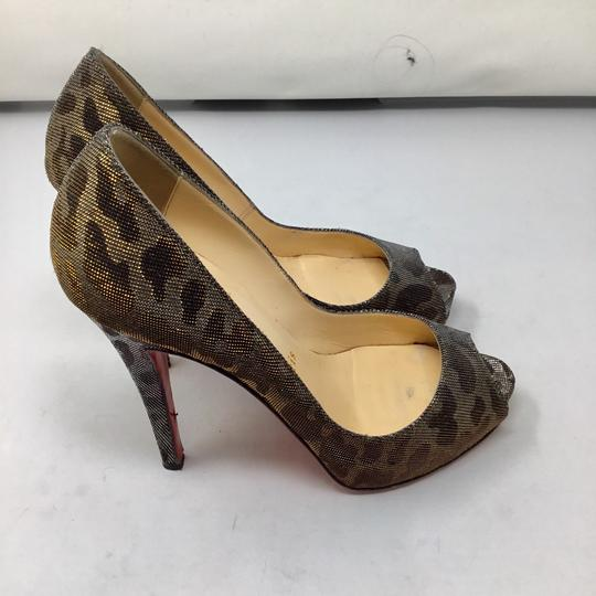 Christian Louboutin gold and silver Pumps Image 4