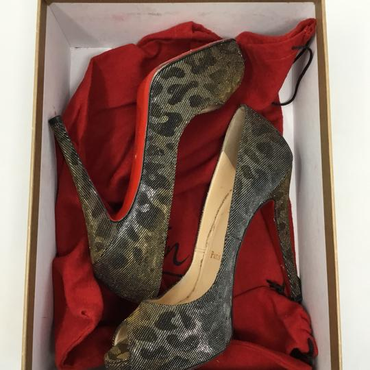Christian Louboutin gold and silver Pumps Image 7