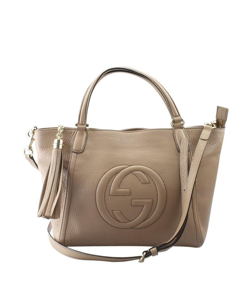 a7ed66ece65 Gucci Soho 369176 Cellarius (158265) Beige Leather Shoulder Bag ...