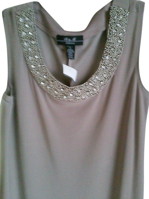 Preload https://img-static.tradesy.com/item/24099410/r-and-m-richards-taupe-beaded-neck-jacket-night-out-dress-size-6-s-0-1-650-650.jpg