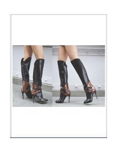 B Brian Atwood Black, Brown Boots