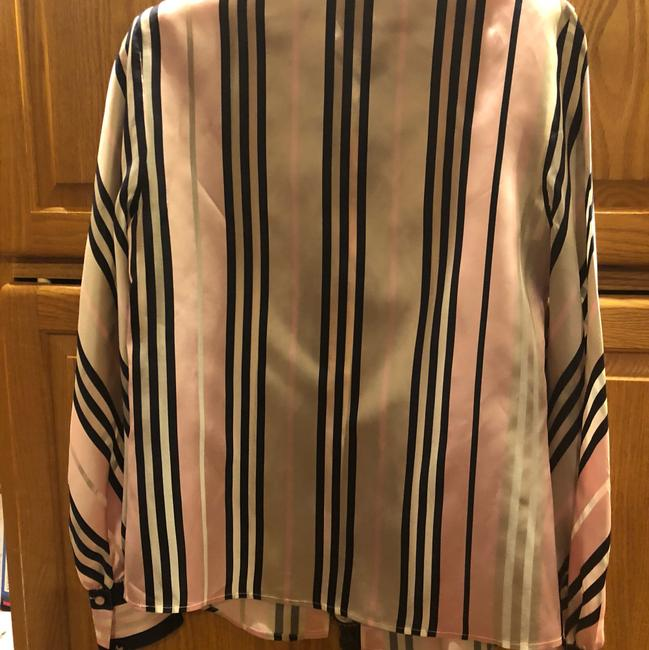 Escada Top multi colored navy and pink and taupe Image 2