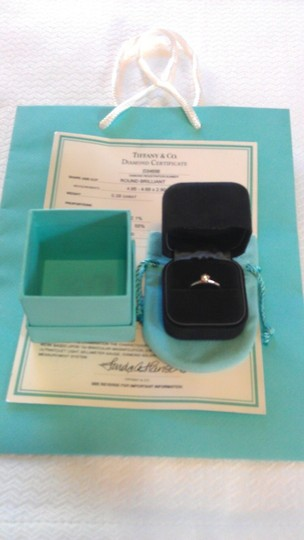 Tiffany & Co. Tiffany & Co. Platinum .38 Carat Diamond Solitaire Engagement Ring Image 2