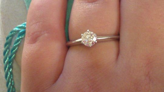 Tiffany & Co. Tiffany & Co. Platinum .38 Carat Diamond Solitaire Engagement Ring Image 4