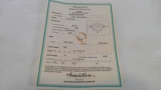 Tiffany & Co. Tiffany & Co. Platinum .38 Carat Diamond Solitaire Engagement Ring Image 5