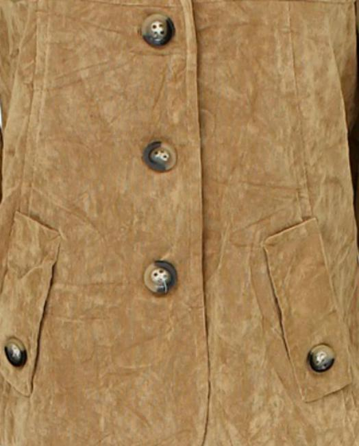 RQT Suede Leather Look Blazer beige tan light brown Jacket Image 1