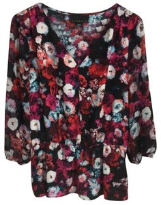 Attention Top Flower Print