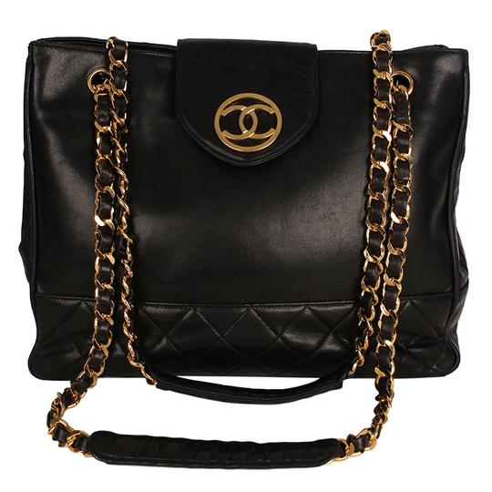 Preload https://img-static.tradesy.com/item/24099617/chanel-supermodel-quilted-6618-black-lambskin-leather-tote-0-0-540-540.jpg