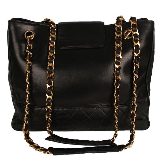 Chanel Classic Vintage Lambskin Supermodel Tote in Black Image 1