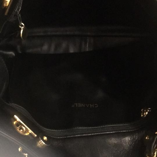 Chanel Classic Vintage Lambskin Supermodel Tote in Black Image 10
