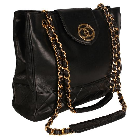 Chanel Classic Vintage Lambskin Supermodel Tote in Black Image 2
