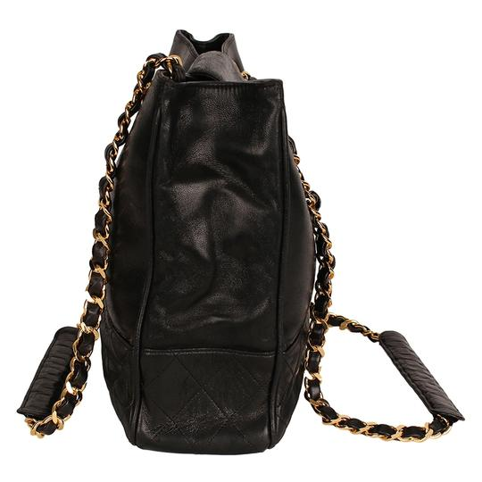 Chanel Classic Vintage Lambskin Supermodel Tote in Black Image 3