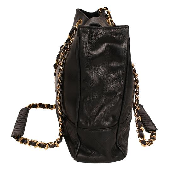 Chanel Classic Vintage Lambskin Supermodel Tote in Black Image 4