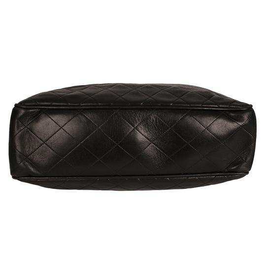 Chanel Classic Vintage Lambskin Supermodel Tote in Black Image 5