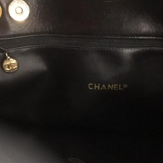 Chanel Classic Vintage Lambskin Supermodel Tote in Black Image 8