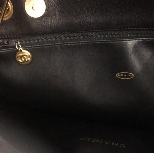 Chanel Classic Vintage Lambskin Supermodel Tote in Black Image 9