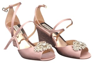 Badgley Mischka Blush Pink Wedges