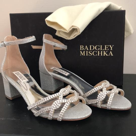 Badgley Mischka Silver Formal Image 1