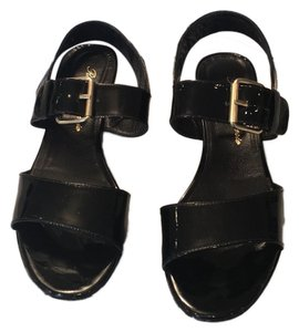 ROBERT CLERGERIE black leather and patent platform sandals size 38.5 These FABULOUS sandals were gently worn one time and are in EXCELLENT condition! black Sandals