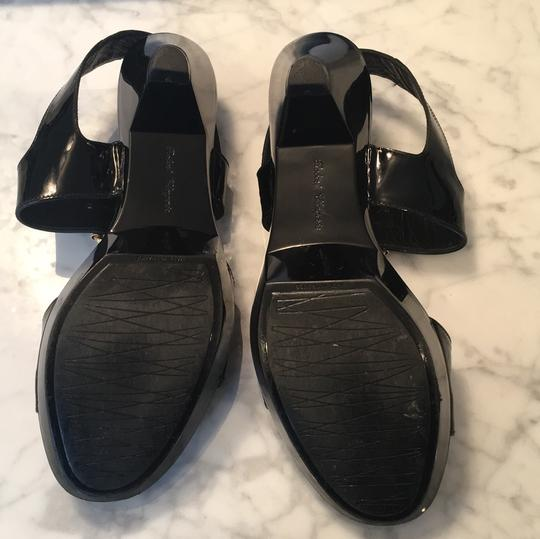 ROBERT CLERGERIE black leather and patent platform sandals size 38.5 These FABULOUS sandals were gently worn one time and are in EXCELLENT condition! black Sandals Image 2