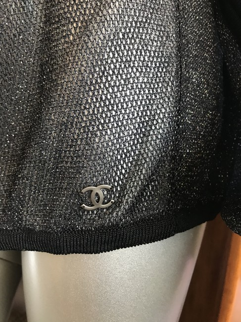 Chanel Swimsuit Rare Top Black Image 1