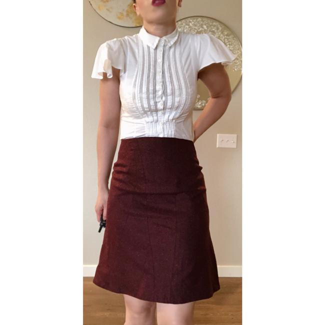 Zac Posen Mcqueen Fitted Skirt Red Image 1