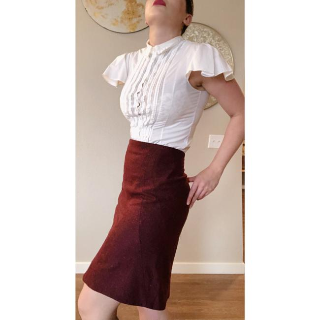 Zac Posen Mcqueen Fitted Skirt Red Image 2
