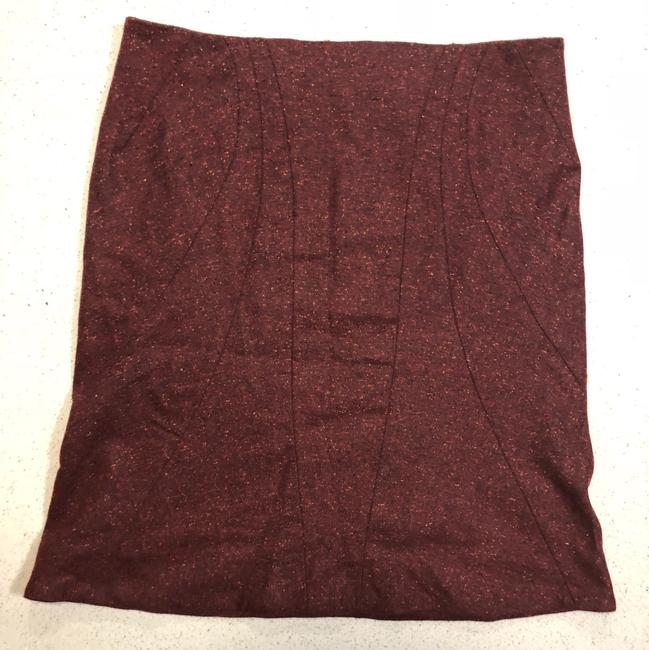 Zac Posen Mcqueen Fitted Skirt Red Image 3