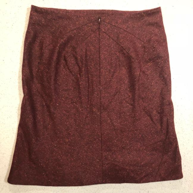 Zac Posen Mcqueen Fitted Skirt Red Image 4
