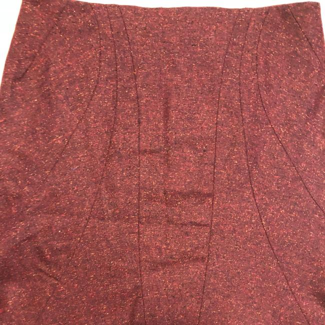 Zac Posen Mcqueen Fitted Skirt Red Image 5