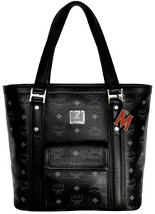 MCM Tote in Black & Gray