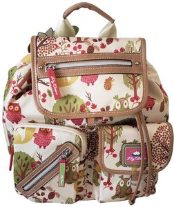 Lily Bloom Eco Friendly Recycled Material Owls Backpack