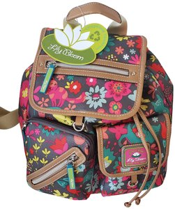 Lily Bloom Eco-friendly Recycled Material Karma Fabric Floral Backpack