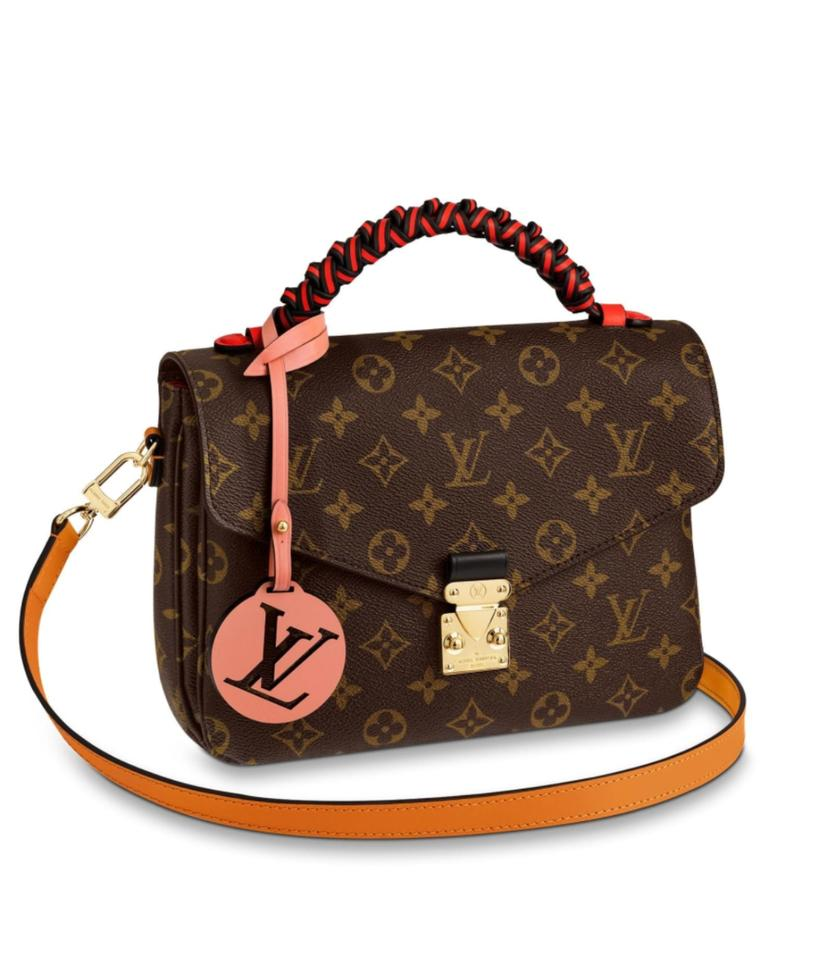 e1b5fabbf938 Louis Vuitton Pochette Limited Edition Braided Handle Brown Red ...